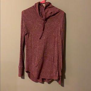 Maroon heather cowl neck hoodie. GUC